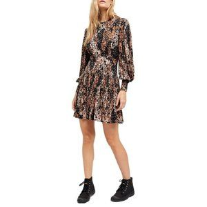 Free People Heartbeats Mini Dress Black NWT S